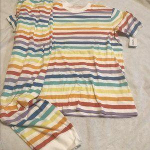 NWT carters rainbow XL uni adult pajamas men women